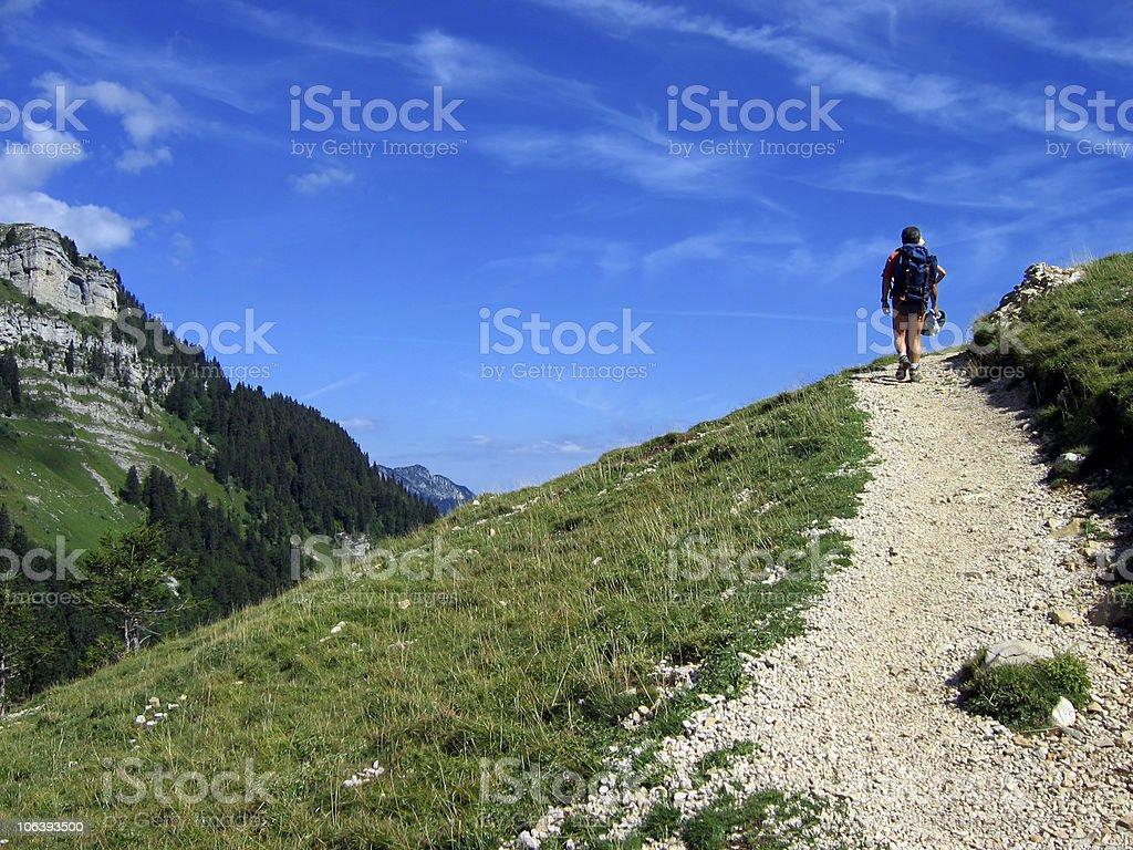 moutain path stock photo