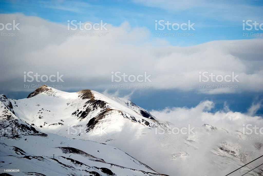 Moutain Peaks at Pyrenees royalty-free stock photo