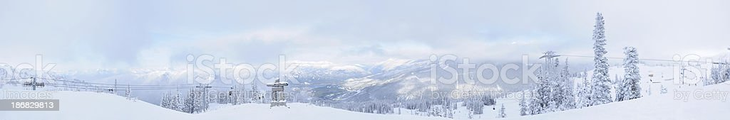 Moutain top panorama in Whistler, BC royalty-free stock photo