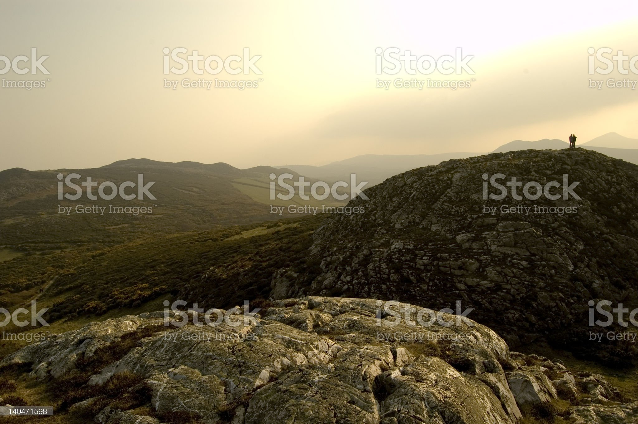Moutains in Bray. Ireland royalty-free stock photo