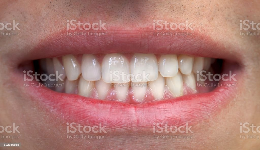 Mouth and teeth stock photo