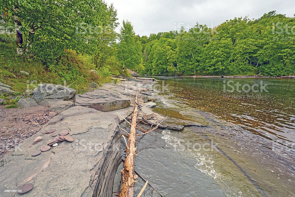 Mouth of a River in the Great Lakes stock photo