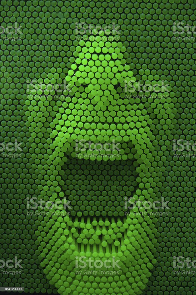 mouth of nails royalty-free stock photo