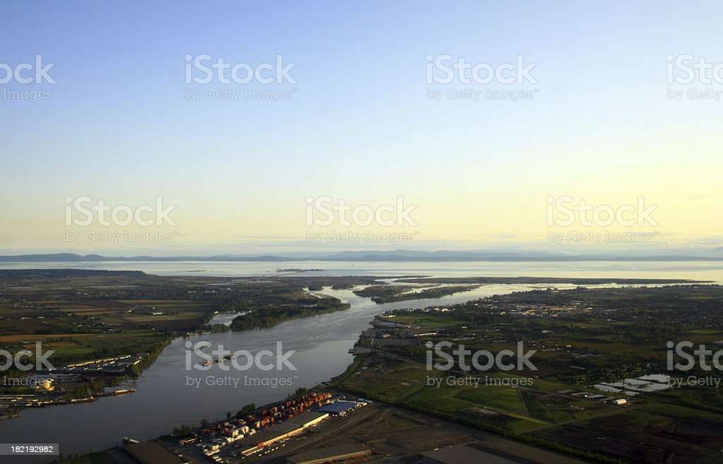 Mouth of the Fraser stock photo