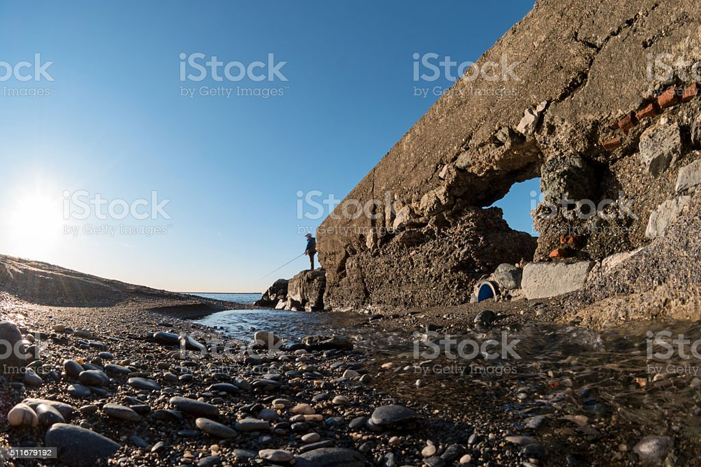 Mouth of the river and clear sky royalty-free stock photo