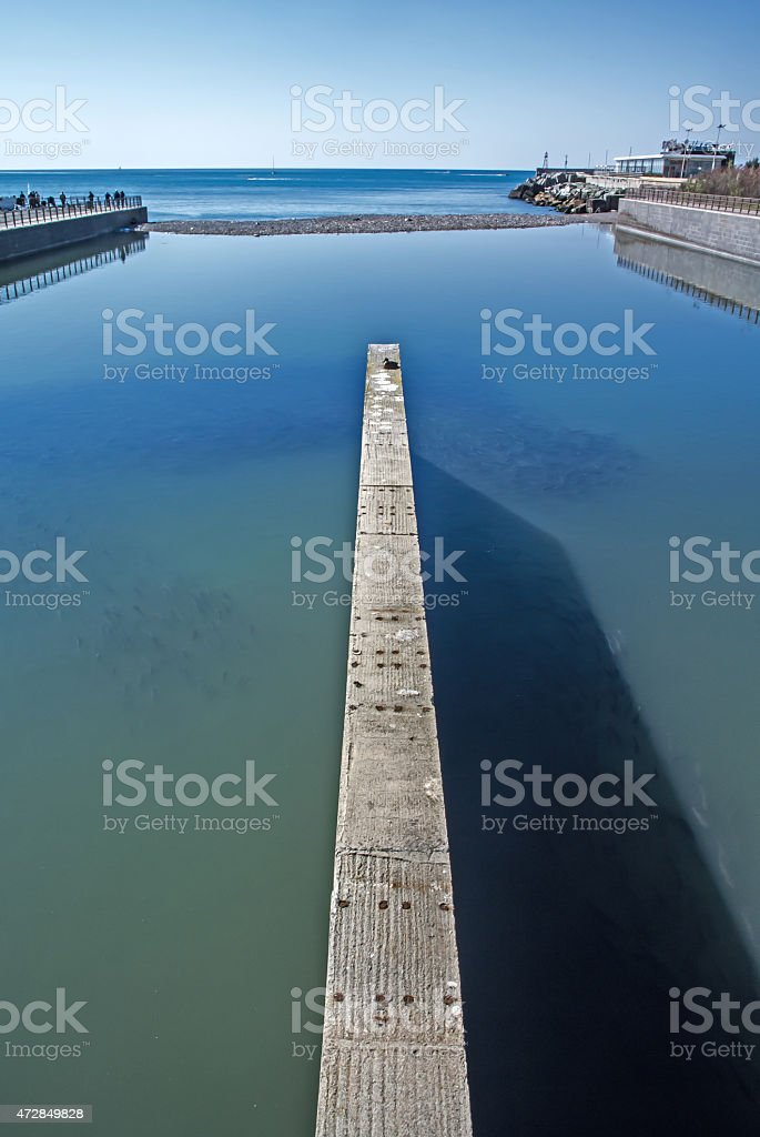 mouth of the river royalty-free stock photo