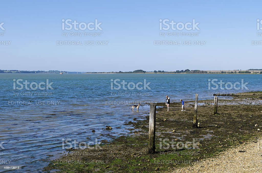 Mouth of the River Stour from Shotley, Suffolk stock photo