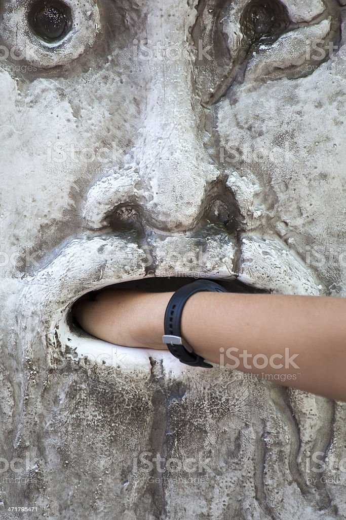 Mouth of truth stock photo