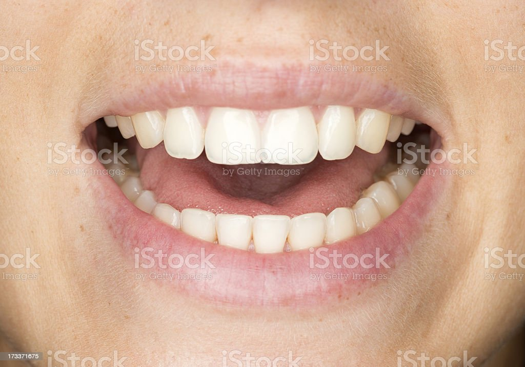 Mouth Talking stock photo