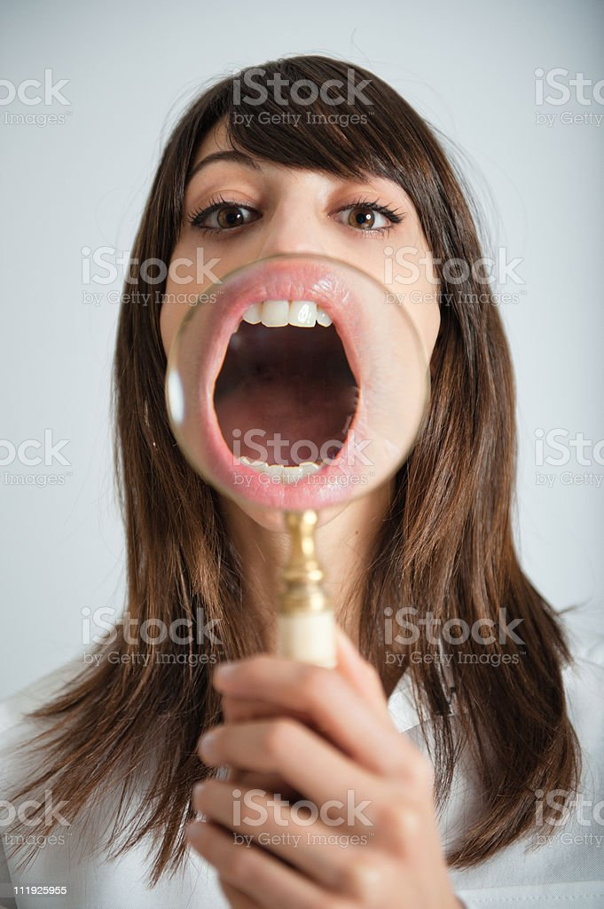 Mouth zooming royalty-free stock photo