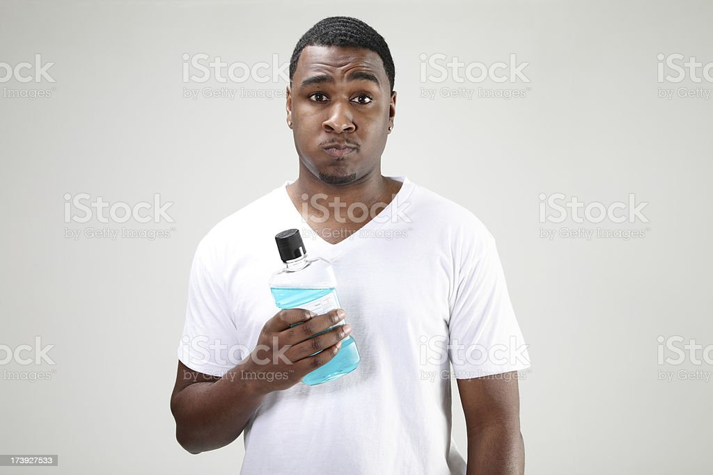 Mouthwash stock photo