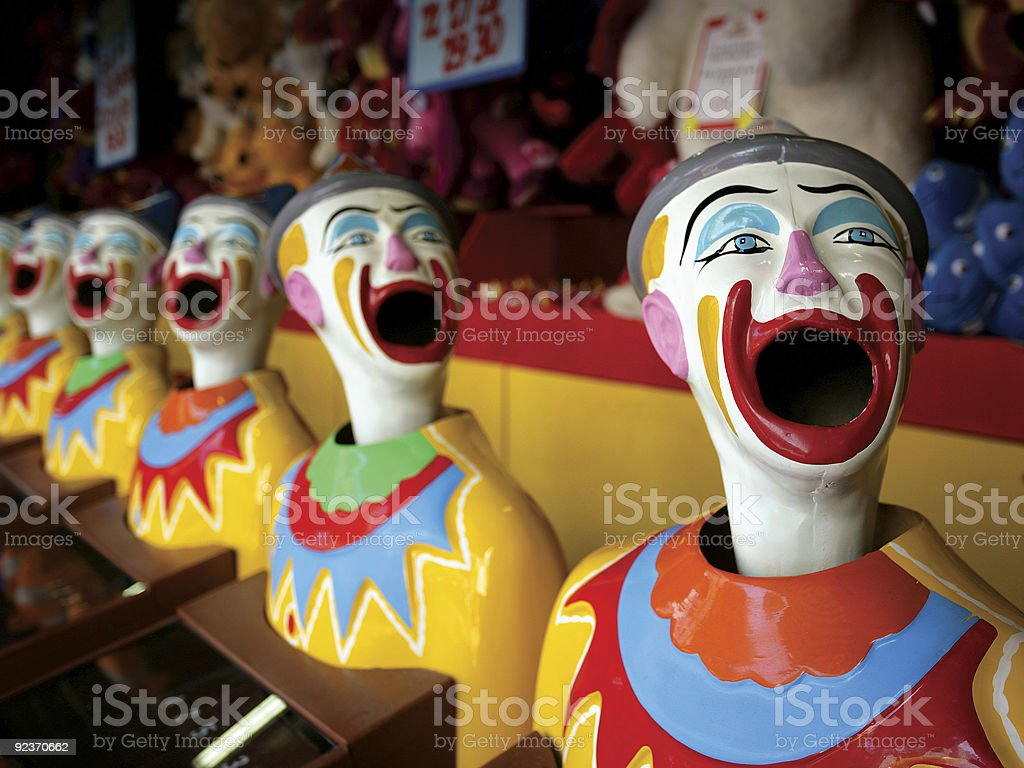 Mouthy clowns stock photo