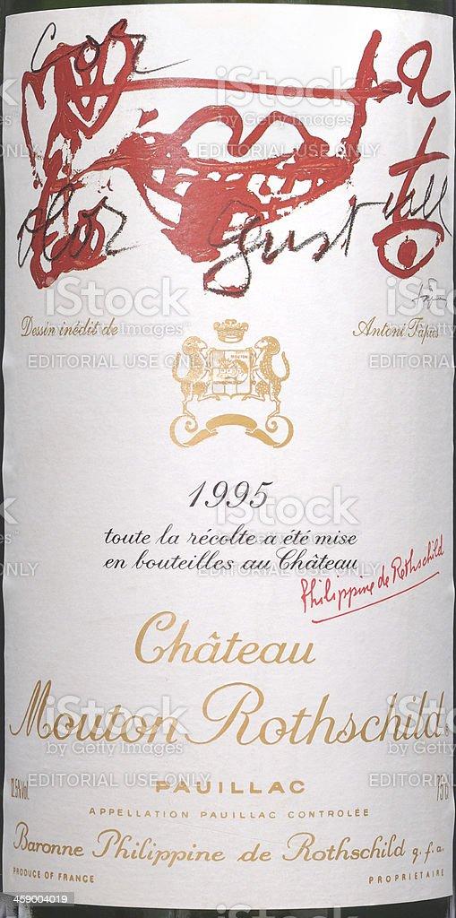 Mouton Rothschild 1995 stock photo