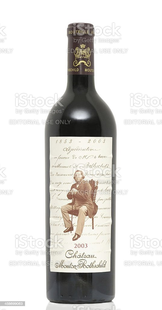 Mouton Rothschild 2003 stock photo