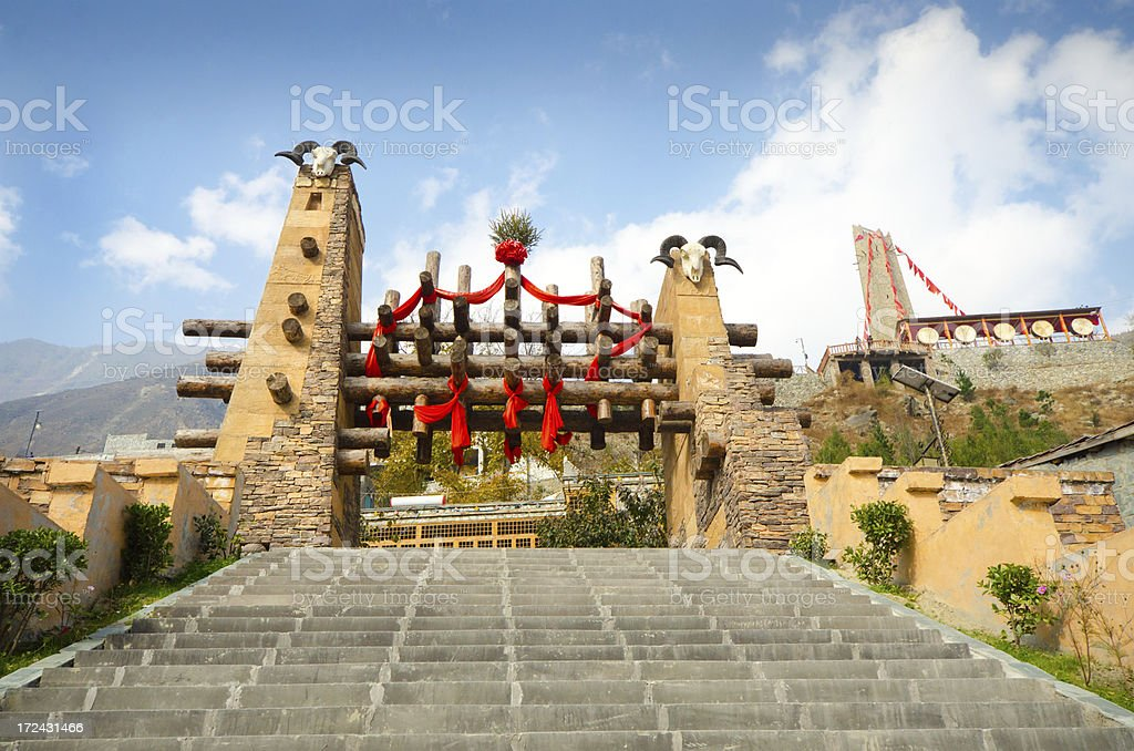Moutuo Village - Entrance, china royalty-free stock photo