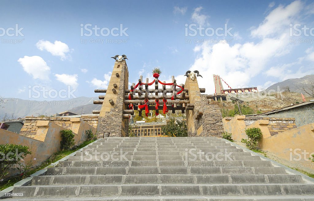 Moutuo Village - Entrance, china royalty-free stock photo