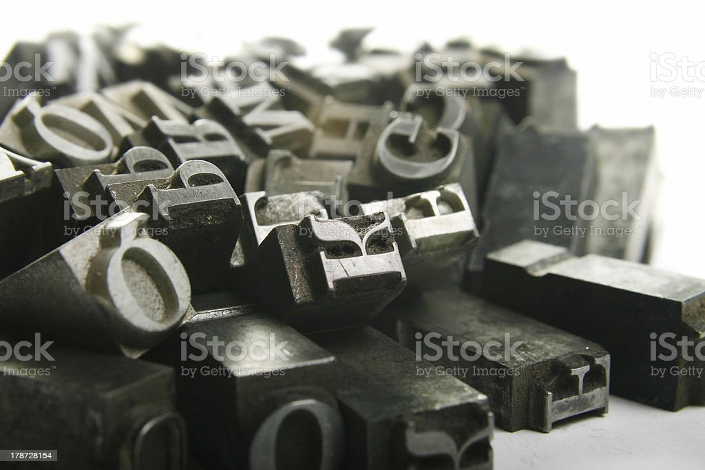 movable type stock photo
