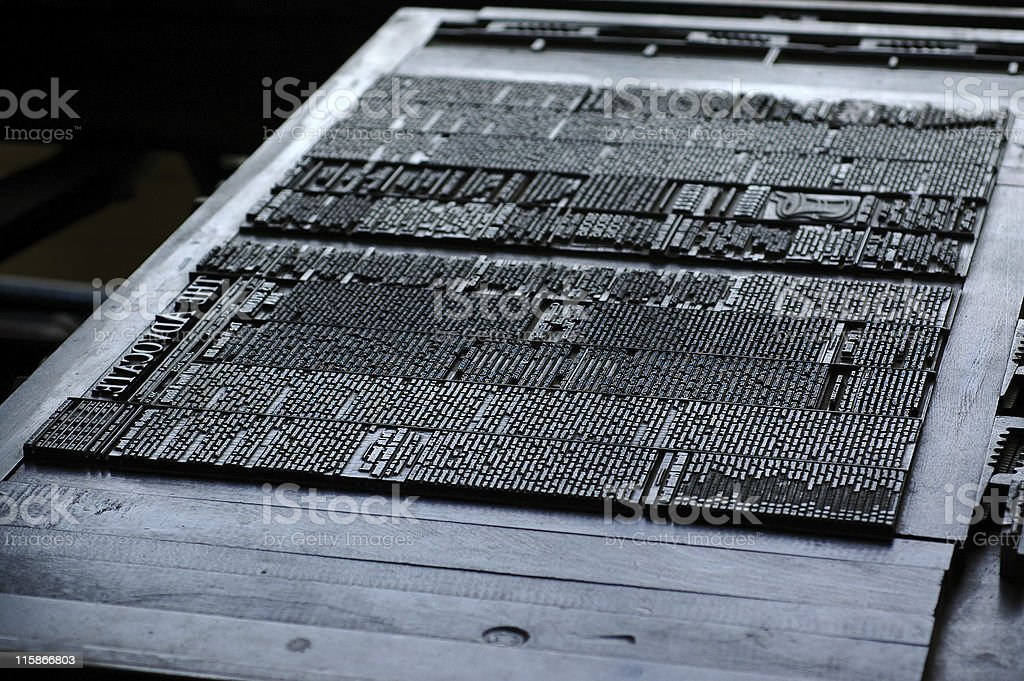 movable type set royalty-free stock photo