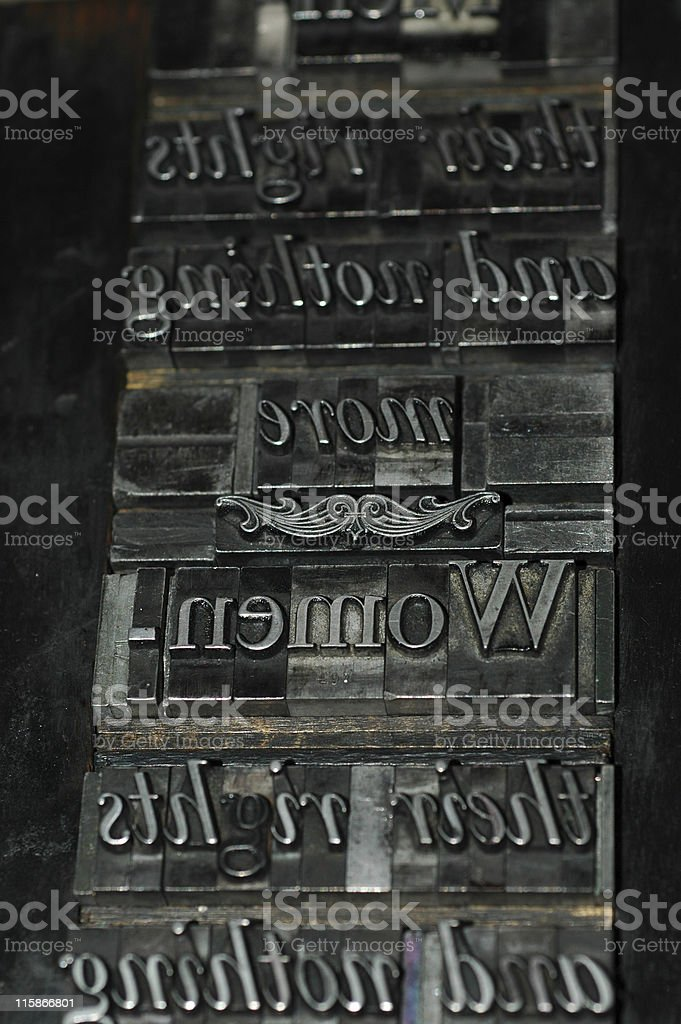 movable type 'Women' stock photo