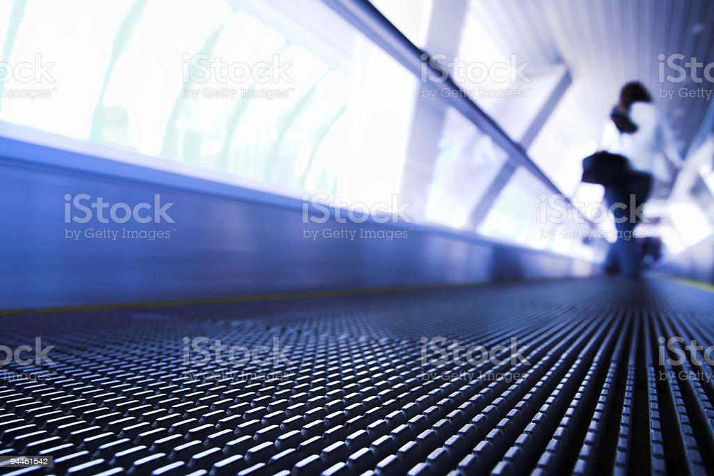 Move escalator in modern office royalty-free stock photo