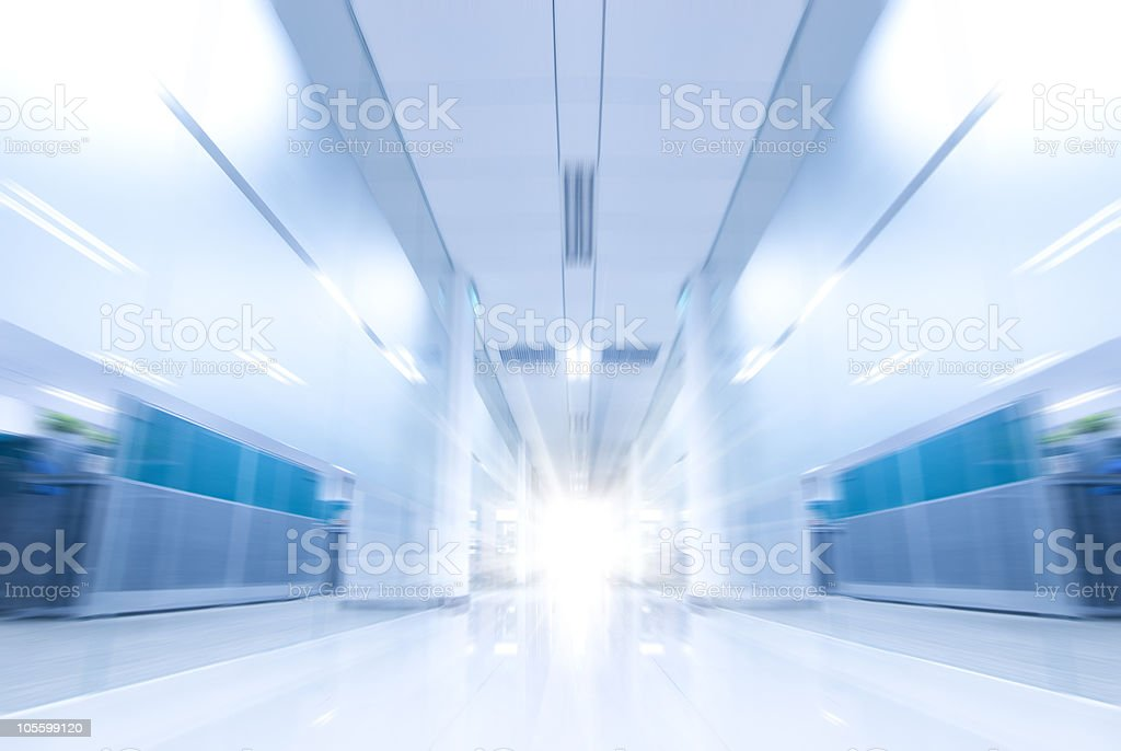 move in Modern office corridor royalty-free stock photo
