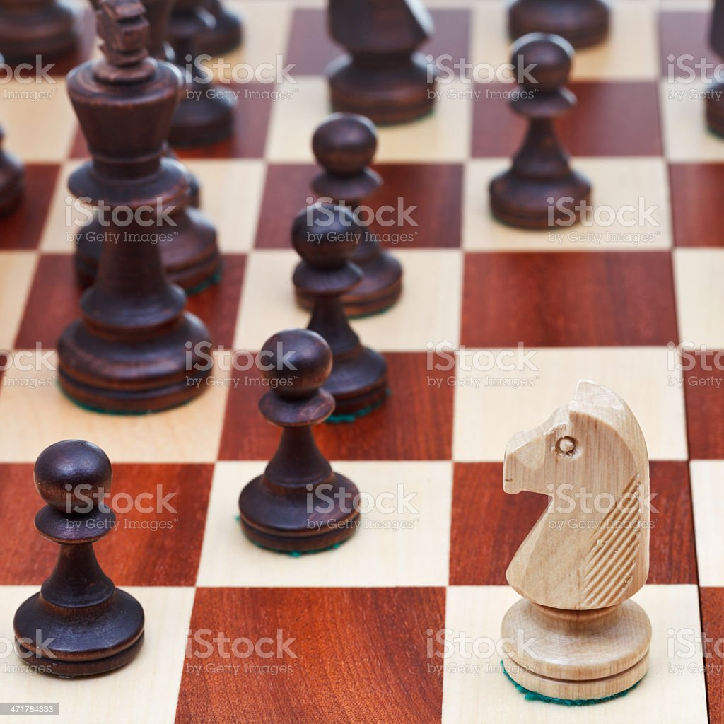 move of white chess knight royalty-free stock photo