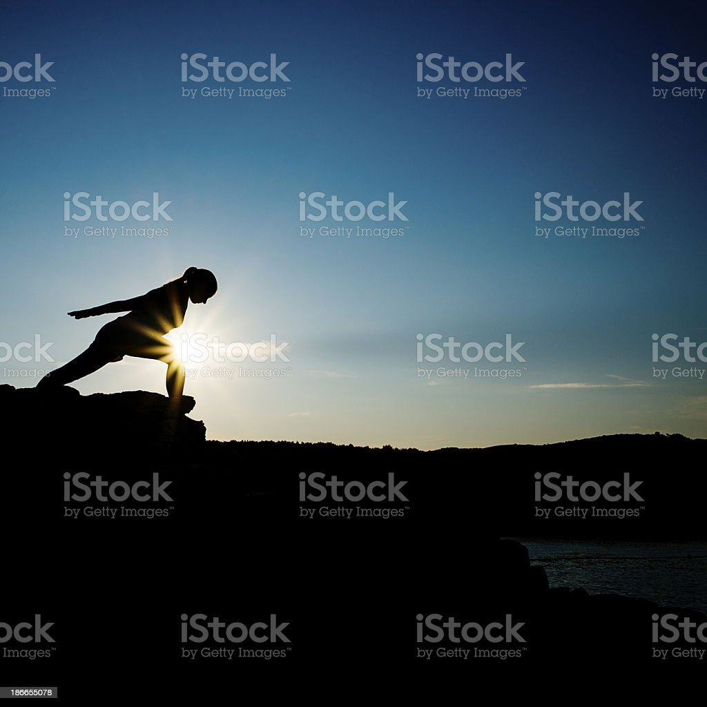 Move Outside Your Boundary royalty-free stock photo