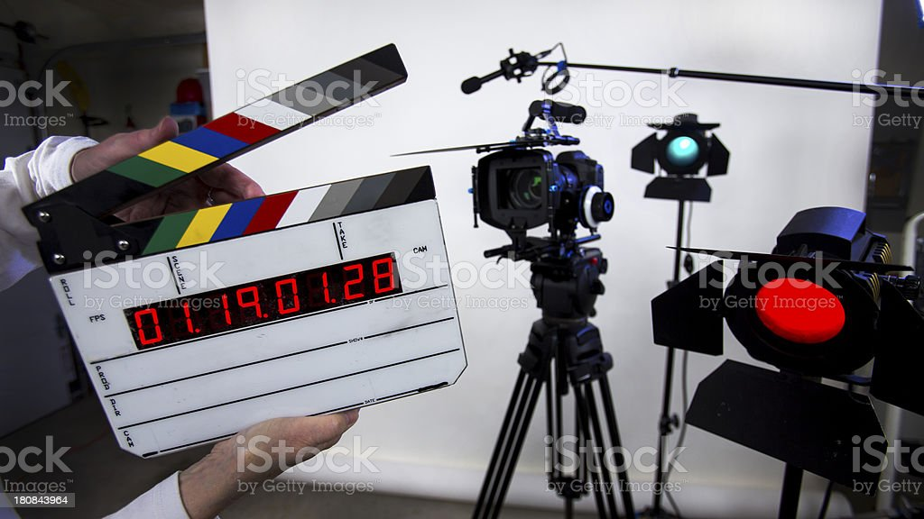 Move slate, smart time code clapper, add your name royalty-free stock photo