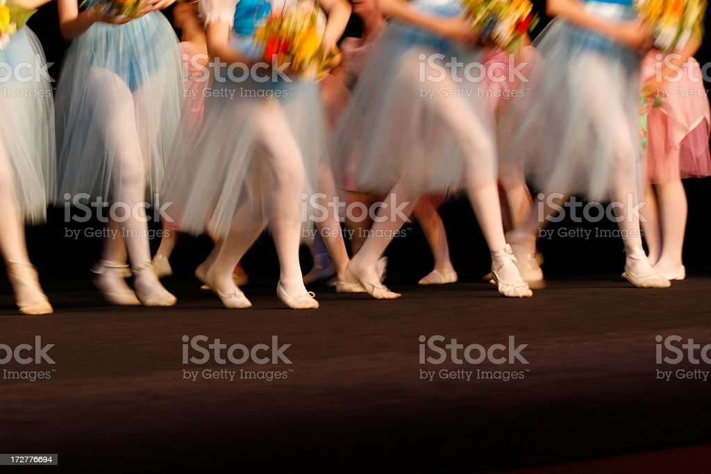 Moved ballet scene background royalty-free stock photo