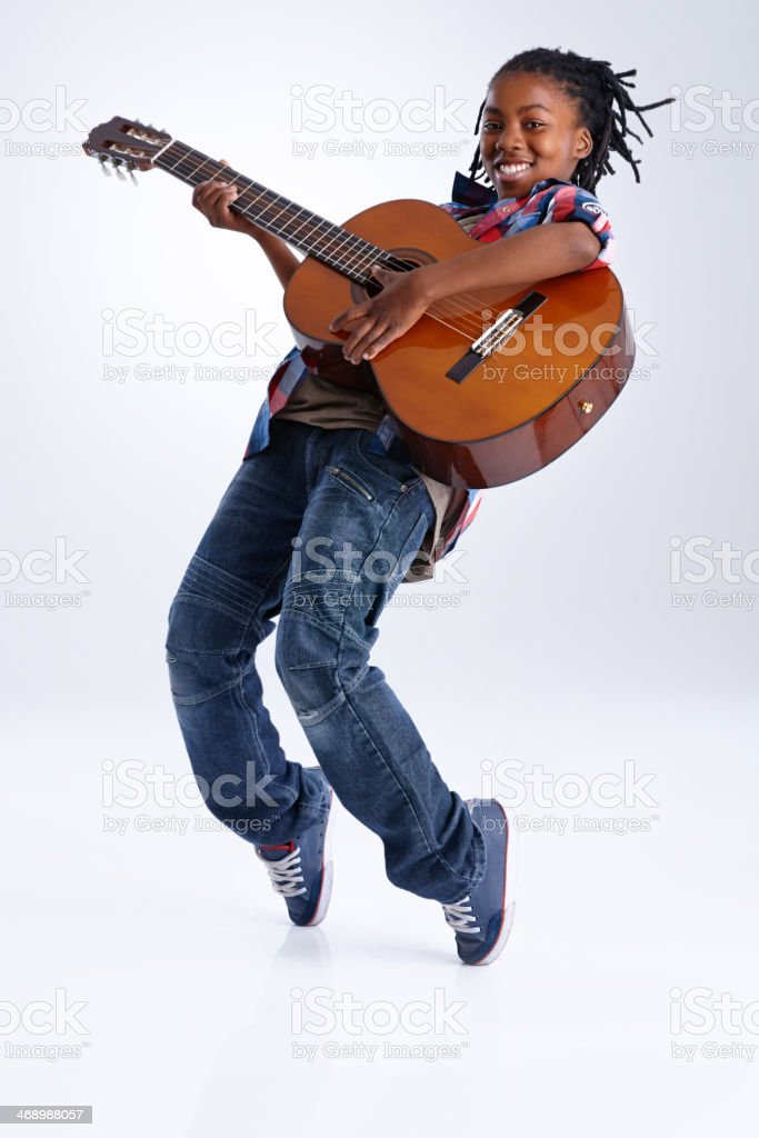Moved by the music! royalty-free stock photo