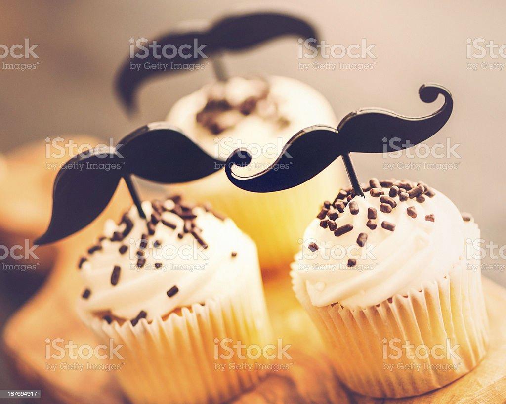 Movember Cupcakes royalty-free stock photo