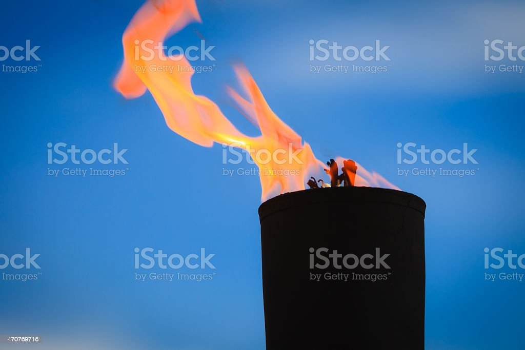 Movement of fire flame stock photo