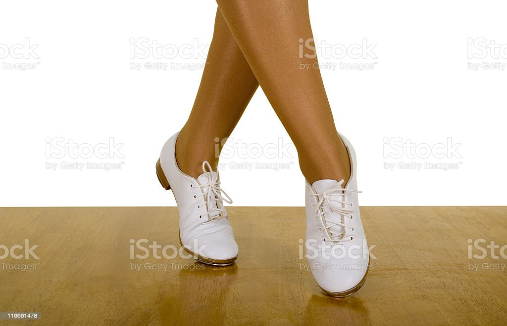 Movements Of Tap-Top/Clog Dance royalty-free stock photo