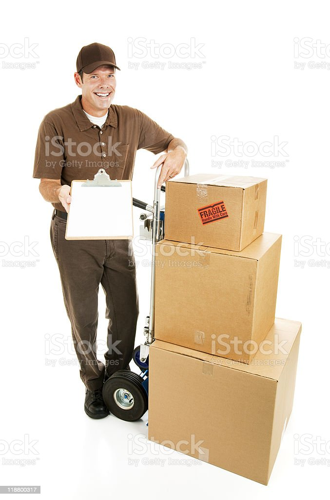 Mover - Sign for Delivery royalty-free stock photo