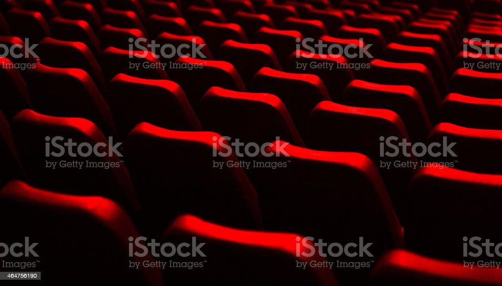 movie and music theater interior stock photo