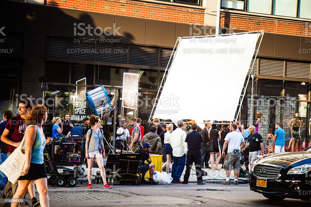 Movie and TV series set in New York streets stock photo