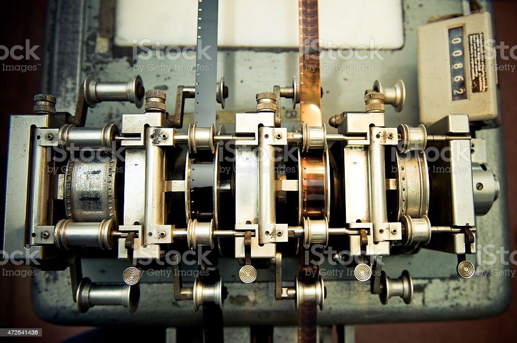 Movie audio video film synchronizer for industrial movie post pr stock photo