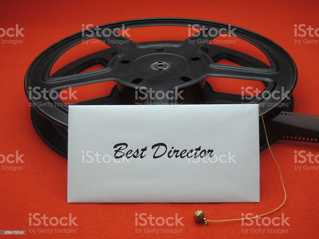 Movie awards - best director stock photo