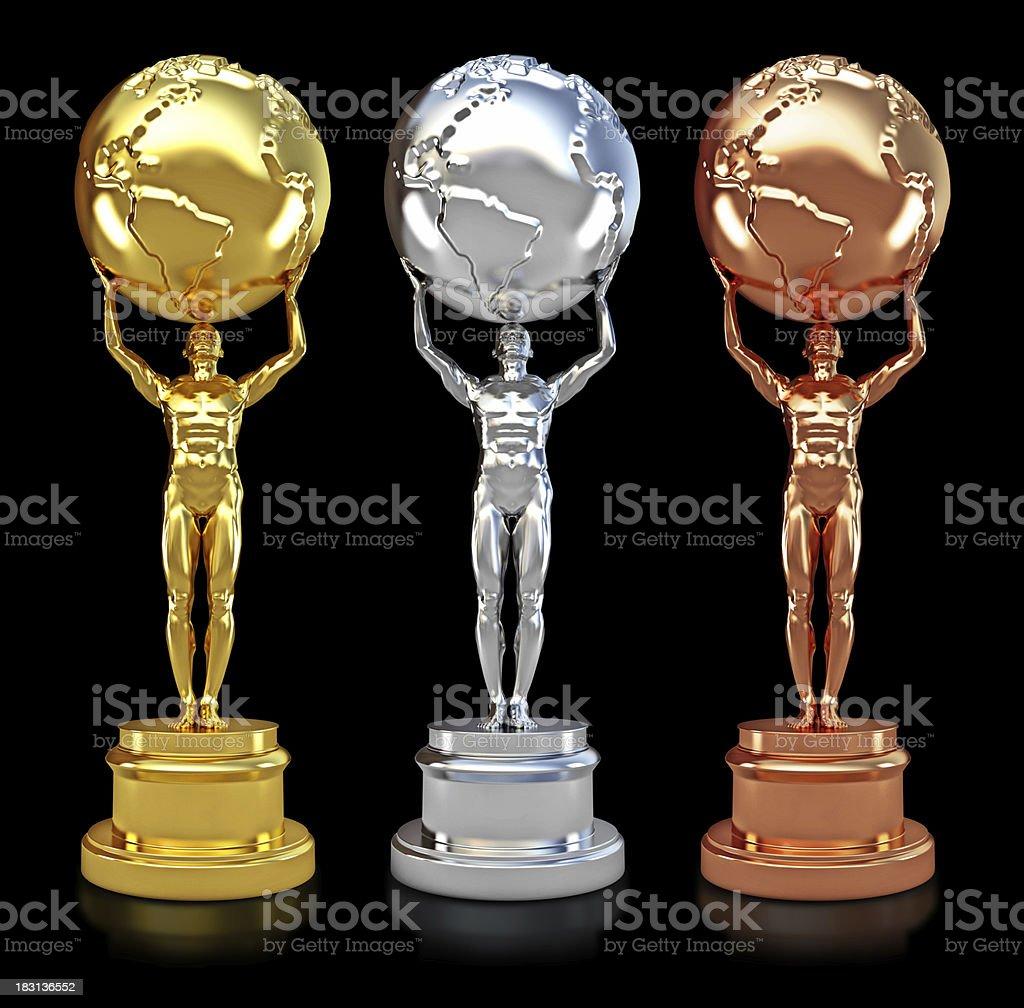 Movie awards stock photo
