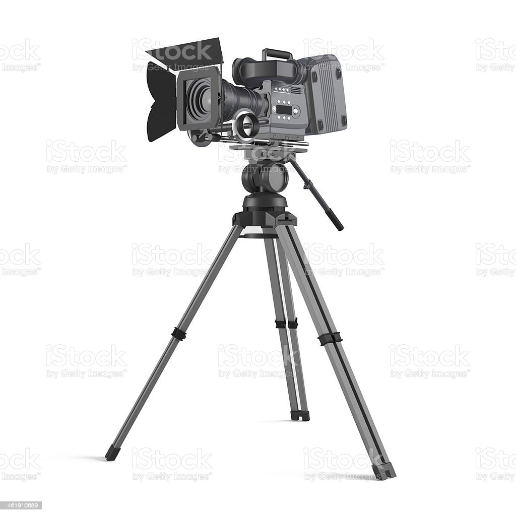 Movie camera isolated stock photo