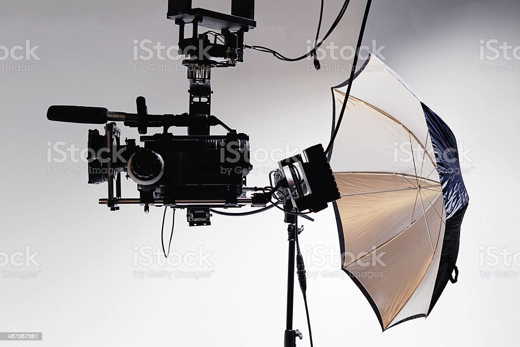 Movie Camera on Film Set royalty-free stock photo