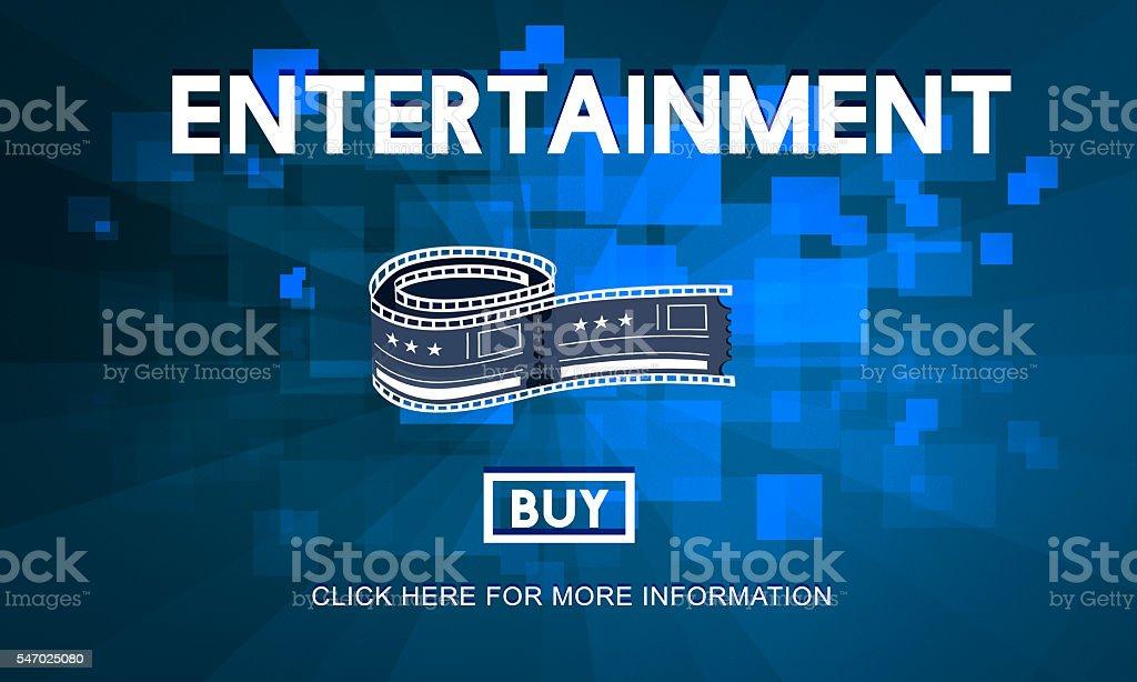 Movie Cinema Ticket Graphic Concept stock photo