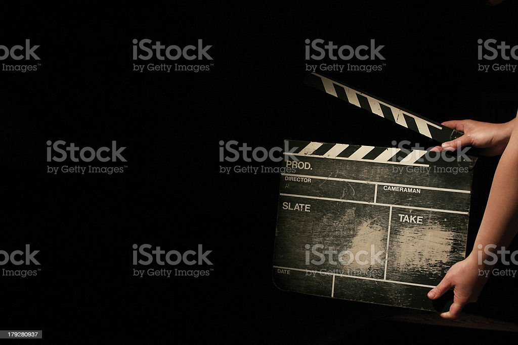 movie clapper board royalty-free stock photo