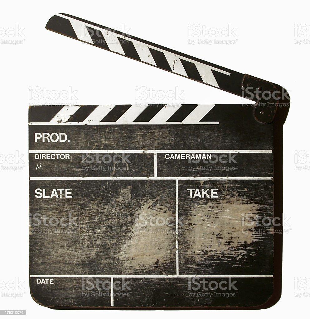 movie clapper board stock photo