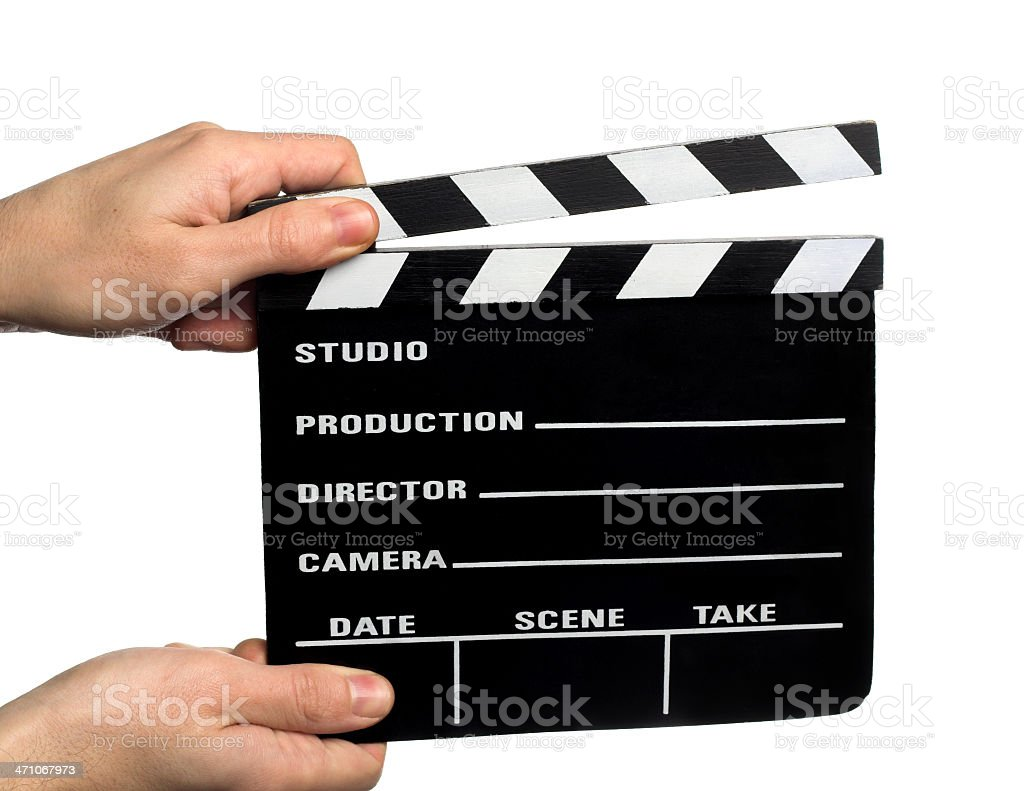 movie clapperboard royalty-free stock photo
