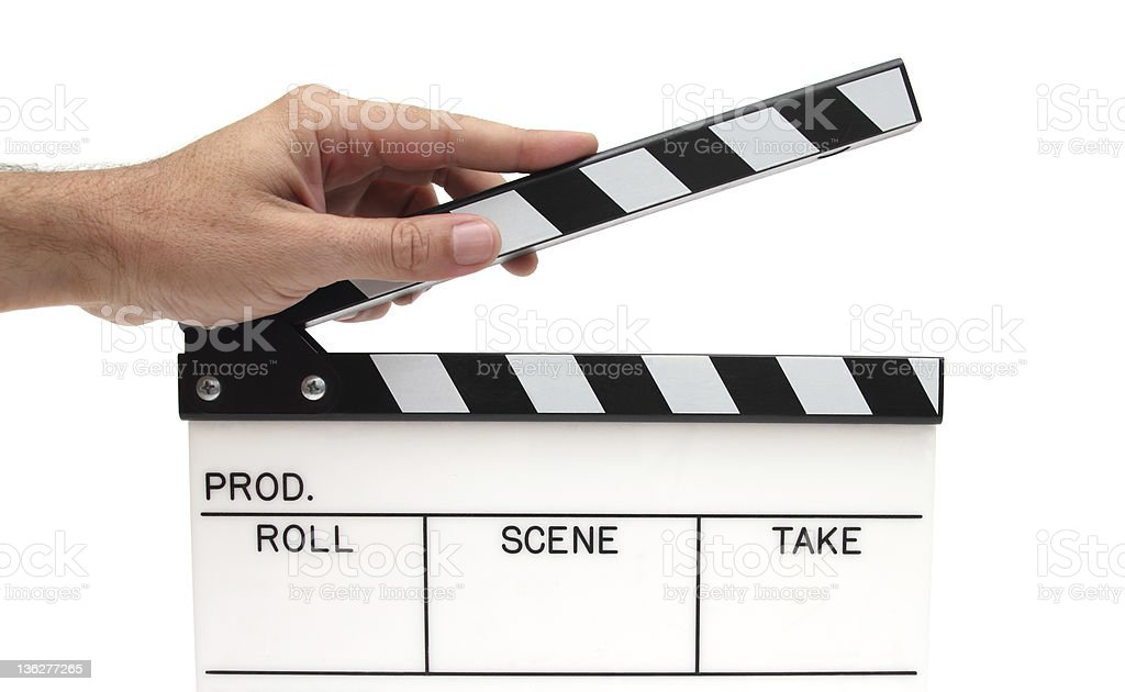 movie clapping stock photo