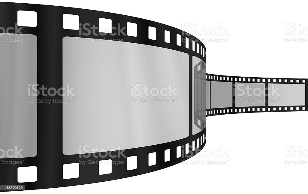 Movie film blank frames stock photo