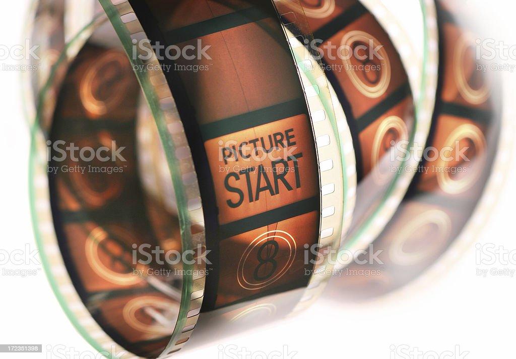 movie film countdown stock photo