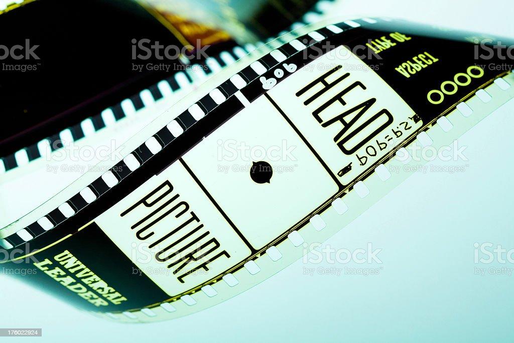 Movie film leader stock photo