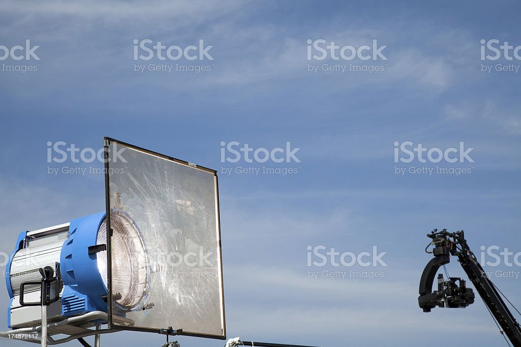 movie lights and soft filter royalty-free stock photo